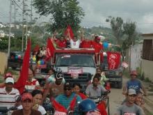 Arranque de la Caravana en el Municipio Federación