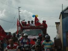 Arranque de la Caravana en el Municipio Federación con los Alcaldes  aguedo Bermudez y Argenis Arcayas