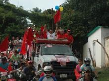 El Huracan Rojo! en el Municipio Federación en la Gran Caravana de Cierre