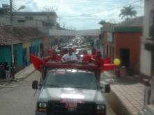 Andrés Eloy Méndez arrasando en el Municipio Federación en una Caravana con mas de 280 carros