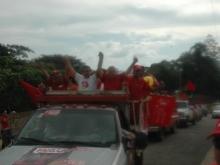 Todo el Municipio en pleno presente en la caravana con el candidato Andrés ELoy Méndez