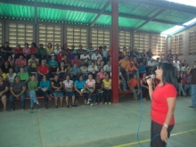 La Lcda. Santa Gomez en alocución para el apoyo de Andrés ELoy con el Sector Educación.