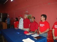 Acompañado de con su Equipo y otros Candidato Municipio Unión
